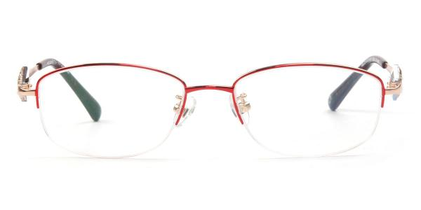 162020 Elaine Rectangle red glasses