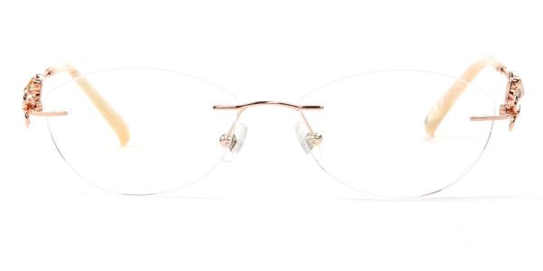 162022 Pearl Oval gold glasses