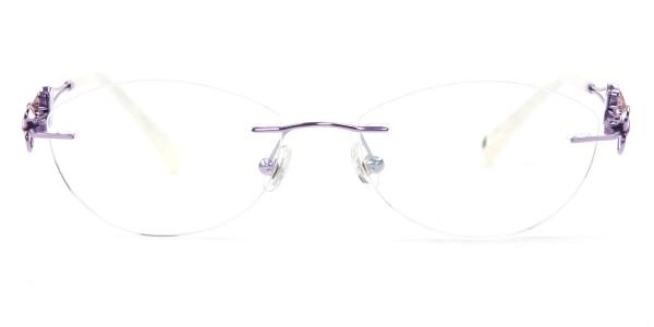 162022 Pearl Oval purple glasses