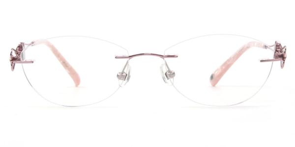 162022 Pearl Oval pink glasses