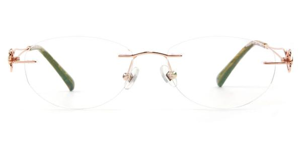 162024 Hilaria Oval gold glasses
