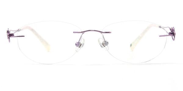 162024 Hilaria Oval purple glasses
