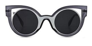 1655 Cally Cateye grey glasses