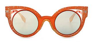 1655 Cally Cateye orange glasses