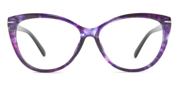 1697 Maryann Cateye purple glasses