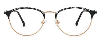 17007 Delta Oval black glasses