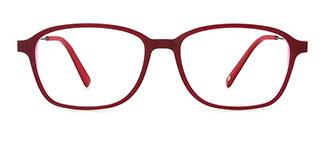 171038 Henrieeta Rectangle red glasses
