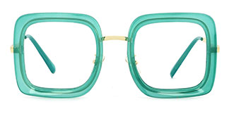 1745 Abiba Rectangle green glasses