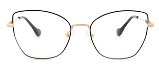 1760 Gustave Cateye black glasses