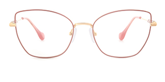 1760 Gustave Cateye pink glasses