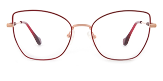 1760 Gustave Cateye red glasses