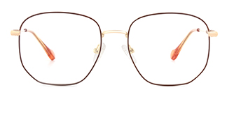 1761 Eleannore Geometric brown glasses