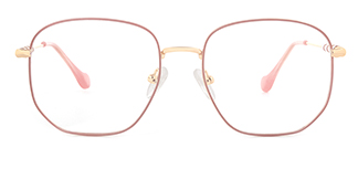 1761 Eleannore Geometric pink glasses