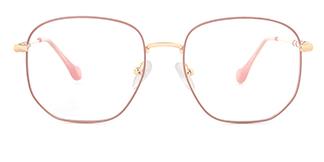 1761 Eleannore Geometric pink glasses
