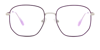 1761 Eleannore Geometric purple glasses