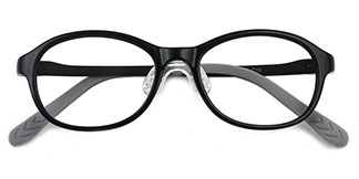 17651 Ella Oval black glasses