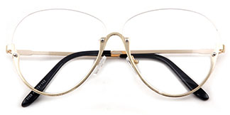 1789 Skylar Oval gold glasses
