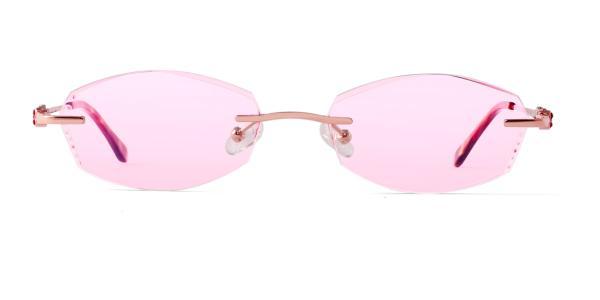 1801 Falecia Geometric red glasses