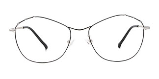 18014 Mable Cateye silver glasses