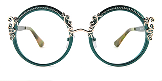 18028 Aphrodite Round green glasses