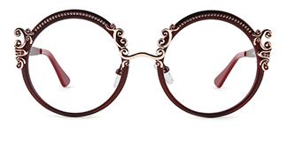 18028 Aphrodite Round red glasses