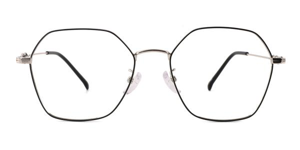 18035 Benita Geometric silver glasses