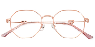 18045 Analise Geometric, pink glasses