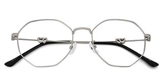 18045 Analise Geometric, silver glasses