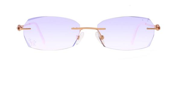 1805-1 Fairy Geometric gold glasses