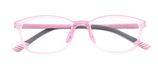 1808 Emily Rectangle pink glasses