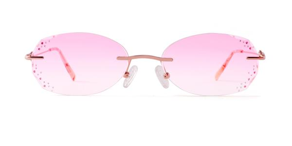 1810-1 Faie Geometric pink glasses