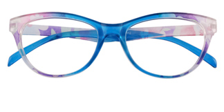 18112 Fabiola Cateye blue glasses