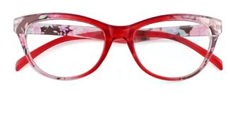 18112 Fabiola Cateye red glasses