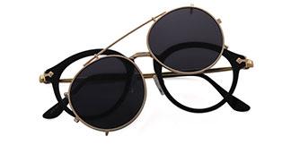1813 Idana Oval,Aviator black glasses