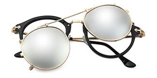1813 Idana Aviator silver glasses