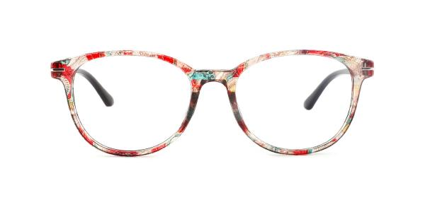 18146 Lana Oval orange glasses