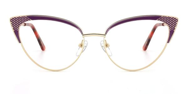 18281 Florence Cateye purple glasses