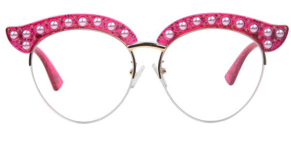1844 Madge Cateye red glasses