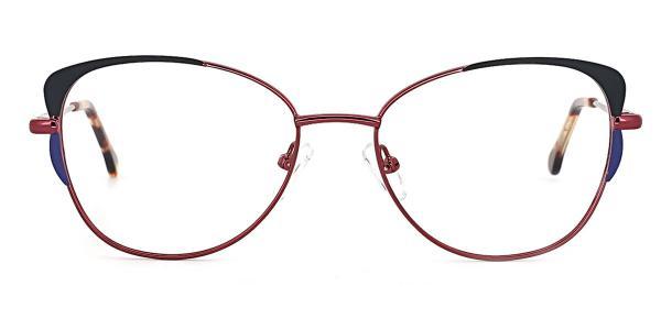 18441 Pamelia Cateye red glasses