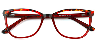 1866 Alice Oval red glasses