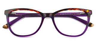 1866 Alice Oval purple glasses