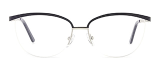 1875 demi Rectangle black glasses
