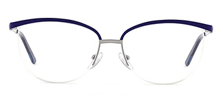 1875 demi Oval blue glasses
