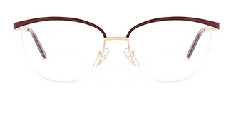 1875 demi Oval brown glasses