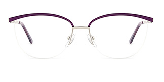 1875 demi Rectangle purple glasses