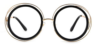 1884 Aimee Round black glasses