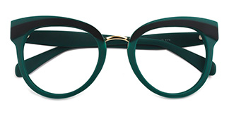 1892 Cady Oval black glasses