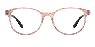 1905 karida Oval pink glasses