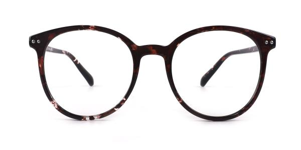 19503 bertha Oval tortoiseshell glasses