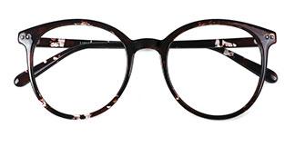 19503 bertha Oval tortoiseshell glasses